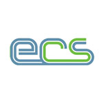 ECS Logo in blue and green