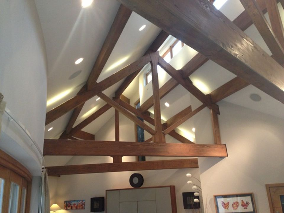 Stable cottage wickwar lighting in the ceiling