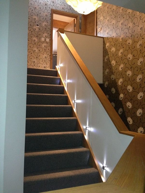 Stable cottage wickwar lighting up the stair case