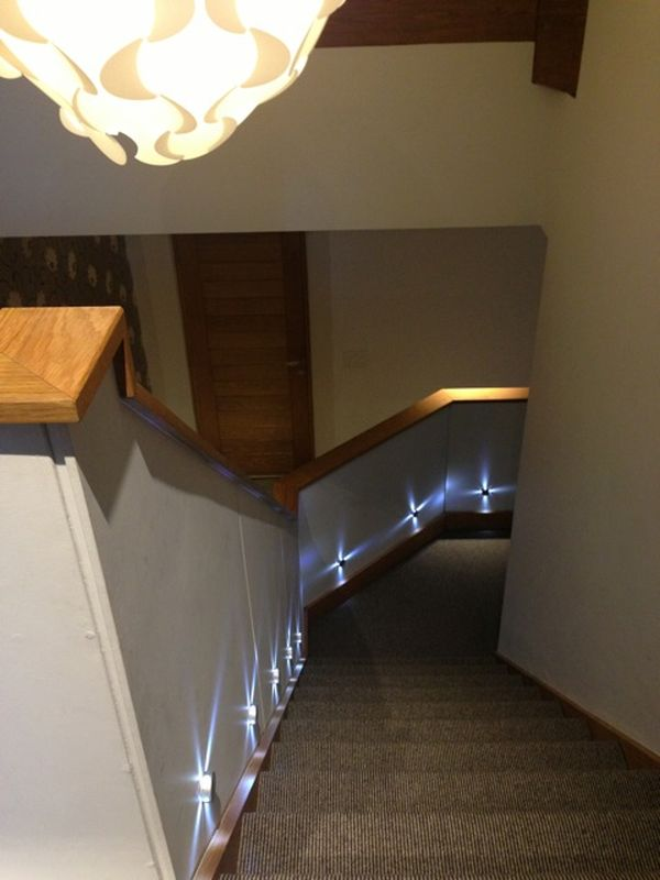 Stable cottage wickwar lighting down the stair case
