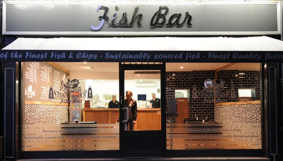 The font of Stoke Bishop & Clifton Fish Bar