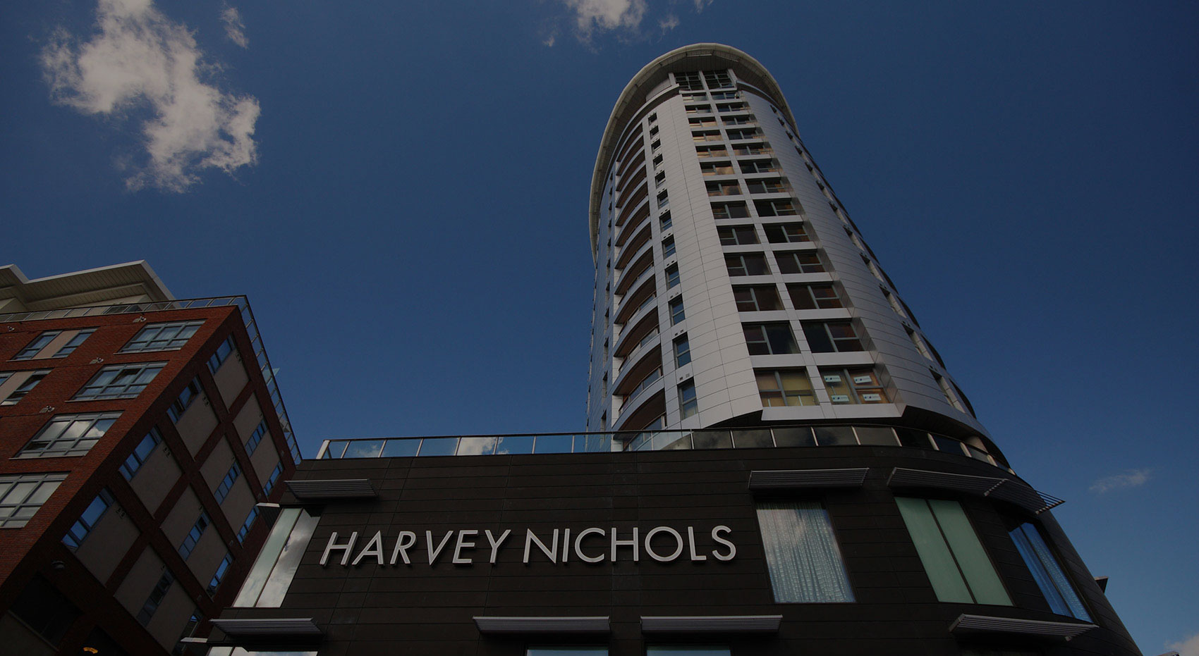 The exterior of a commercial building belonging to Harvey Nichols